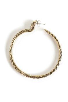 Pamela Love - Brass Snake Hoop Earring BONA DRAG