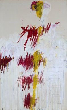 Cy Twombly -Quattro Stagioni: Primavera,1993-5.Acrylic, oil, crayon, and pencil on canvas