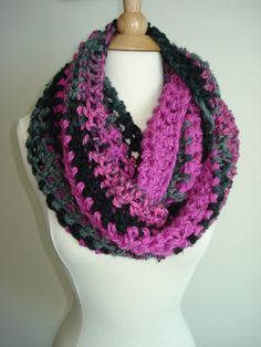 Funky/ Small/ Teen/ Handmade Crochet Cowl/Scarf by Belisse on Etsy, $25.00