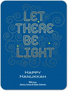 Hanukkah card for Evite Postmark - by Cindy Lee-Tsu