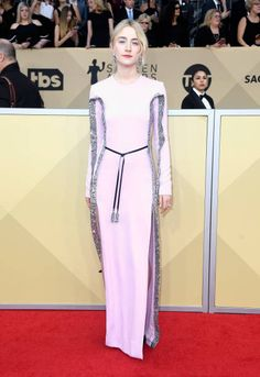 Actor Saoirse Ronan attends the 24th Annual Screen Actors Guild Awards at The Shrine Auditorium on January 21 2018 in Los Angeles California