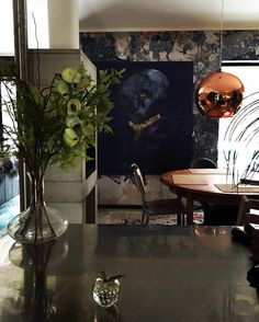 """Battered Wall – Maria Aarli-Grøndalen på Instagram: """"Look, new man in the house, finally hung my new gorgeous artwork, it is by awesome @villabetulablog 😍❤#myhomevibe #diningroom #diningnook…"""""""