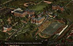 Aerial View of the University of Dayton, Dayton, Ohio