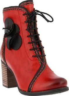 Get ready for the L'Artiste by Spring Step Chrisanne Ankle Boots. Popular boots designed by L'Artiste by Spring Step featured in Red Leather. Without fail you'll feel great sliding into these boots brought to you by the brand L'Artiste by Spring Step. #boots #booties #ankleboots #shoes #fashion