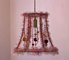 Cage Hanging Pendant Fixture Shabby Chic Cottage by mysecretlite, $135.00