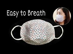 New Design - DIY Breathable Mask | The mask does not touch your mouth and nose, easier to breathe - YouTube Small Sewing Projects, Sewing Projects For Beginners, Sewing Crafts, Sewing Tutorials, Diy Projects, Easy Face Masks, Diy Face Mask, Scrap Material, Crochet Collar