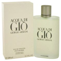 ACQUA DI GIO by Giorgio Armani - Eau De Toilette Spray 6.7 oz http://www.ramblinturtle.com/collections/fragrances/products/acqua-di-gio-by-giorgio-armani-eau-de-toilette-spray-6-7-oz #fragrances #colognes #GiorgioArmani #freeshipping
