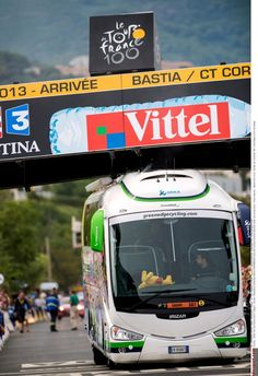 Gallery: A look back at the 2013 Tour de France - The Orica-GreenEdge bus made international headlines after getting stuck under the finish line gantry