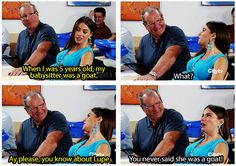 """When she reminisced about her babysitter, Lupe. 