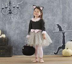 Inspiration for a monkey costume // Toddler Gray Kitty Tutu Costume #pbkids