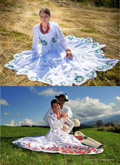 Poland: handpainted weddng dress from the region of Podhale Polish Wedding, Highlanders, My Heritage, Wedding Wishes, Folklore, New Trends, Rusalka, Hand Painted, Culture