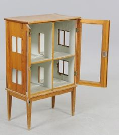 """use old furniture as doll houses"" I once saw an antique radio cabinet at a thrift store and have been kicking myself for not scooping it up for a roombox."