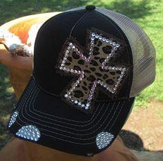 Cheetah Cross Trucker Hat  Cowgirl Soul Original  $30.00