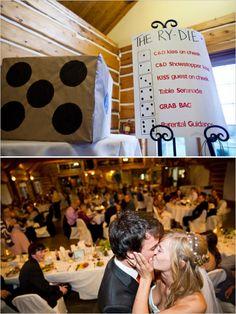 fun wedding games #weddinggames http://www.weddingchicks.com/2013/11/22/ontario-handcrafted-wedding/
