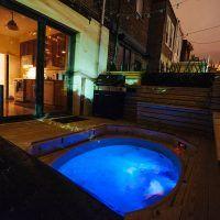 9 Ideeën Over Hot Tub Pallet Kist Tuin Hark Bubbelbad