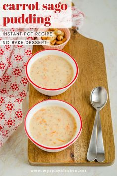 Indian Desserts, Indian Food Recipes, Indian Sweets, Tapioca Pudding, Carrot Pudding, No Bake Desserts, Delicious Desserts, Custard Desserts, Indian Pudding