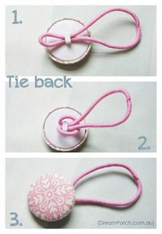 9 easy Pinterest projects you can do today - Button Ponytail Tie - via@babycenter