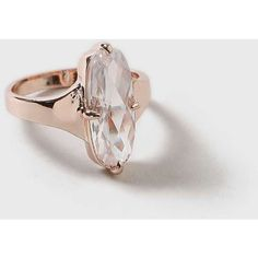 Dorothy Perkins Rose Gold Oval CZ Ring ($17) ❤ liked on Polyvore featuring jewelry, rings, rose gold, oval cubic zirconia ring, rose gold jewelry, cubic zirconia band rings, cubic zirconia rings and rose gold band ring