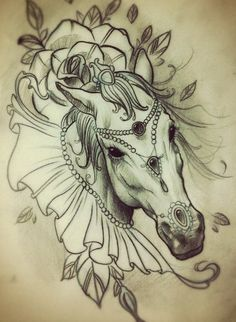 "from "" I Love Horses""   a tatoo"