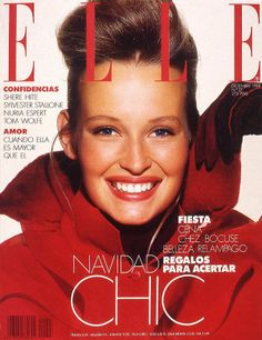 Estelle Hallyday (Lefebure) -- Elle Spain, December 1998