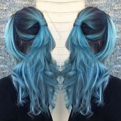 Dusty Pastel Teal Hair Color