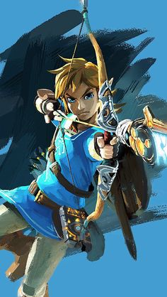 The Legend of Zelda: Breath of the Wild archer Link official art!!!! Simply breathtaking!!! ;D