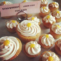 Strawberry Lemon Cupcakes! by Short Street Cakes, via Flickr