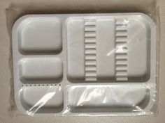 1Pc Dental white Instrument Autoclavable Plastic Trays Flat N651 Dividede  #Haodental