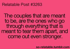 some people may try to tear a couple apart, but a strong couple will ignore those less-than people! :-)