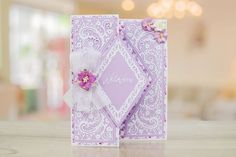 The Paisley Parade Collection features brand new shaped interlocking dies that offer more multi-use and more intricate detailing to create an extremely versatile die Fun Fold Cards, Love Cards, Card Making Ideas Free Printables, Birthday Cards, Happy Birthday, Tattered Lace Cards, Shaped Cards, Mothers Day Cards, Lace Design