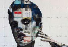 Superati da tempo come supporti per memorizzare i dati, non più in grado di contenerne la mole, i floppy disk rinascono nelle opere dell'artista britannico Nick Gentry. Basta vedere queste immagini per comprendere l'essenza dei suoi lavori. I