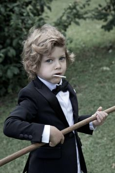 There's even a mini me tuxedo suit from the Dsquared kids fashion new collection for spring 2014