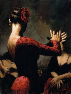 Fabian Perez Flamenco Dancer painting is shipped worldwide,including stretched canvas and framed art.This Fabian Perez Flamenco Dancer painting is available at custom size. Fabian Perez, Shall We Dance, Just Dance, Spanish Dancer, Spanish Art, Speak Spanish, Spanish Woman, Dance Art, Oeuvre D'art