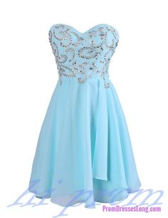 Blue Homecoming Dress Chiffon Homecoming Dresses Simple Homecoming Gowns Strapless Party Dress Short Prom Dress Sweet 16 Dress Cute Homecoming Dresses For Teens Simple Homecoming Dresses, Hoco Dresses, Dresses For Teens, Cute Dresses, Party Dresses, Formal Dresses, Dance Dresses, Ball Dresses, Strapless Party Dress