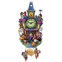The Bradford Exchange Disney Halloween Themed Cuckoo Clock with 9 Disney Characters: Lights and Music Disney Halloween, Happy Halloween, Halloween Wall Decor, Halloween Themes, Halloween Decorations, Halloween 2017, Wall Decorations, Modern Halloween, Halloween Stuff