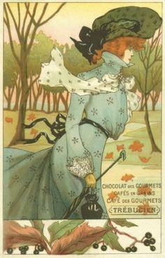 A reference resource for postcard collectors. Art And Illustration, Illustrations, Art Nouveau Mucha, Alphonse Mucha Art, Belle Epoque, Art Deco Paintings, Inspiration Art, Art Vintage, Kunst Poster
