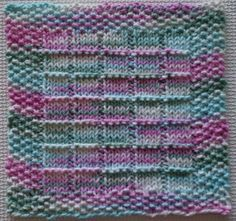 Windowpanes Knitted Dishcloth Pattern....would be a cute pattern for blanket with varigated yarn