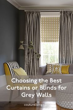 A compelling trend of the past decade, our favourite neutral is showing no signs of disappearing. When searching for your perfect grey curtains or blinds, choose Couture Living. Click the link to read more. Curtains For Grey Walls, Cool Curtains, Curtains With Blinds, Made To Measure Curtains, Gray Interior, Your Perfect, Searching, Neutral, Interior Decorating