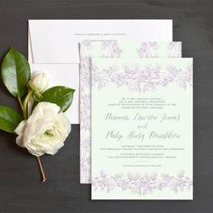 Freesia Wedding Invitations by Lilian Cohen | Elli