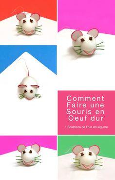 Bonjour, aujourd'hui je vous propose une autre sculpture qui amusera les enfants: la souris en oeuf dur. Pour la version HD, dé...
