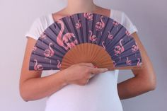 Hand fan FLAMINGO Summer collection 2014