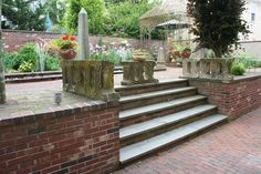 Broad Steps lead up to the garden behind our home and gallery in Newport Rhode Island
