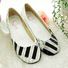 Ballet piano shoes. These are so cute!