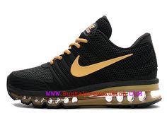 best sneakers bd433 68c8c Nike Air Max 2017 Chaussures de Course Coussin Dair Homme 8Or noir 49560  409-Voir