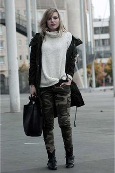 25 Formas Chic De Usar Un Pantalón Militar. Pantalones Camuflados  MujerCamuflajeVestimentasOtoño ... 1eb4e6b87388