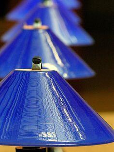 Blue Lampshades