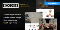 Buy Exodos - Church WordPress Theme by modeltheme on ThemeForest. Want to create an incredible Church/Nonprofit WordPress website? Sick of testing and evaluating themes? Template Site, Html Templates, Best Templates, Wordpress Premium, Light Font, Church Events, Religion, 404 Page, Themes Free