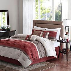 Madison Park Collins 7-Piece Comforter Set in Spice