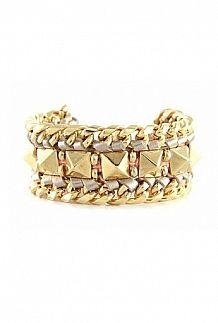 Ettika Born To Rock It Bracelet In Gold
