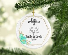 Etsy Christmas, Christmas Goodies, First Christmas, Christmas Bulbs, Creative Gifts, Unique Gifts, Best Gifts, Long Distance Gifts, Personalized Christmas Ornaments